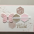 Mother's Day Pink Butterfly Handmade Card