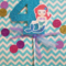 Little Mermaid Number Cake Topper with Bow