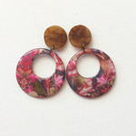 Resin Statement Earrings - Aravina and tortoiseshell