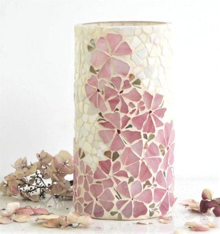 Mosaic Vase  Flowing Flowers...Mother's Day