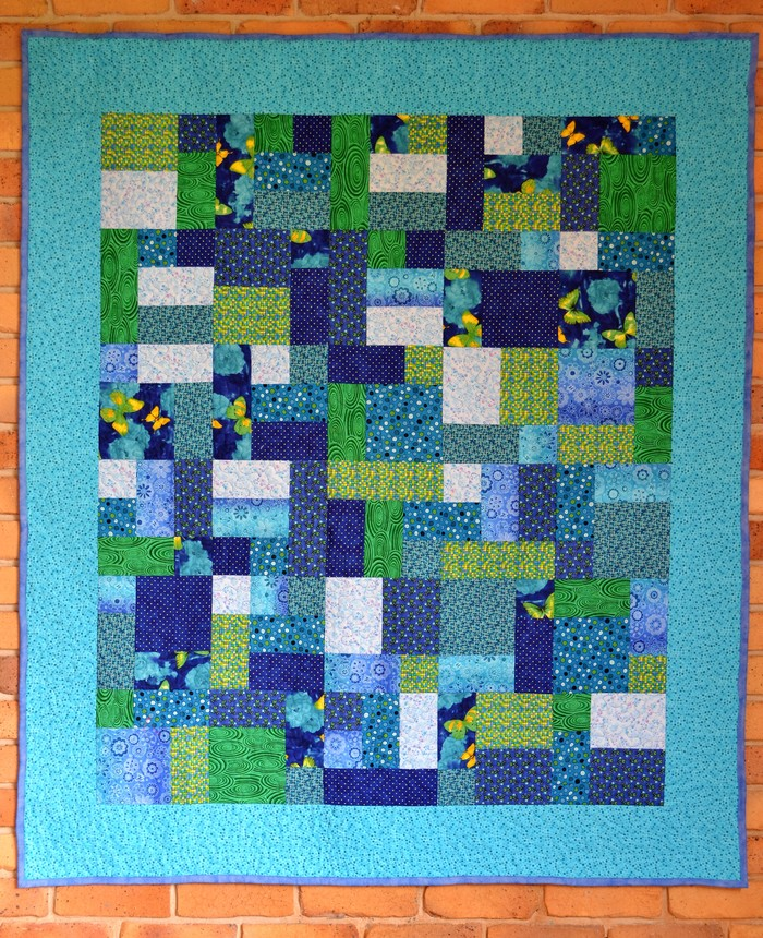 Blue Brick Road Patchwork Quilt | Portch Patch on Madeit