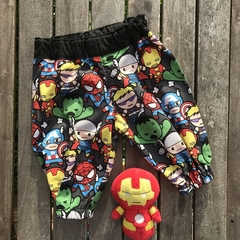 Superheroes harem pants, baby boy toddlers