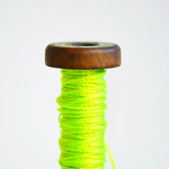 Silky Cord {5m} Neon Lime Twine Wood Spool | Gift Wrap under 5