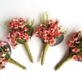 Australian Wax Flower Buttonhole for Groom Groomsman Father