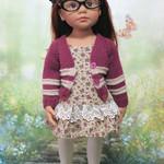 Plum Crazy - 50cm Doll Clothes