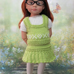 Lime Splice - 50cm Doll Clothes