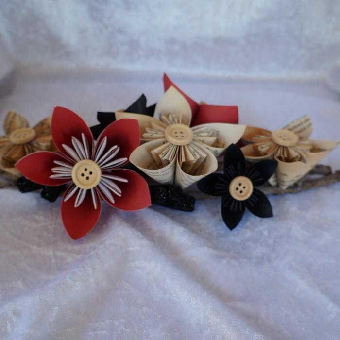 Blackred origami flower arrangement on small branches blackred origami flower arrangement on small branches mightylinksfo