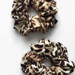 Fierce leopard scrunchie