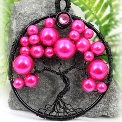 Tree of Life Hot Pink Bubble Tree