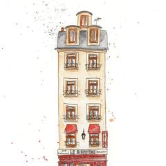 Parisian Restaurant A4 Art Print