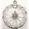 Tree of Life Snowflake with Clear Quartz