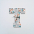 """FOXY FABRIC WOODEN LETTER """"T"""" CLOCK"""