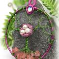 Tree of Life Birds Nest with Cherry Rose Quartz