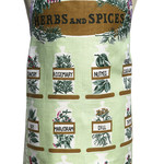 Metro Retro HERBS & SPICES Vintage Apron  Mother's Day Birthday
