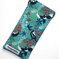 Padded Sunglasses Pouch in Gorgeous Magpie Fabric