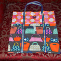 Co-ordinated Gift Set - Two Folding totes, zip pouch and tissue cover.