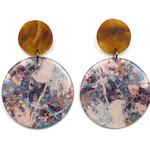 Resin Statement Earrings - Libra and Tortoiseshell