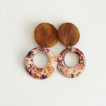 Resin Statement Earrings -  Small, Fall and Tortoiseshell