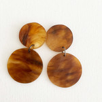 Resin Statement Earrings -  Tortoiseshell