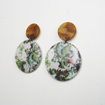 Resin Statement Earrings - Gaia and Tortoiseshell