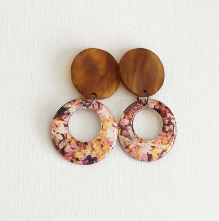 Resin Statement Earrings -  Small, Fall and Tortoiseshell