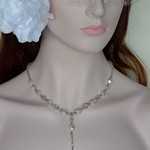 Sterling Silver Freshwater Pearl and Crystal Necklace