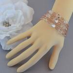 Crystal Beaded Multi Strand Bracelet