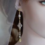Crystal Drop Earrings - Gold Filled