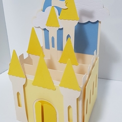 Castle Box Card - Yellow