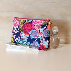 Makeup bag, rainbow  floral, Cosmetic bag, Mothers gift, Make up bag