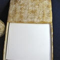 White and Gold Desk Set