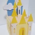 Castle Box Card - Yellow