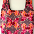 Eco friendly butterfly print market bag.  Reversible and reusable.