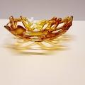 Alcohol Ink Fused Glass Lattice Bowl Yellow