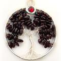 Tree of Life Birthstone January Garnet