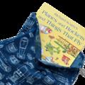 Library Bag. Retro Rockets & Robots. Drawstring School & Kindy Bag. Book Bag.