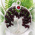 Tree of Life Birthstone January Garnet