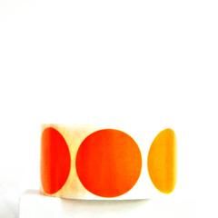 Orange Seals {20} 50mm Stickers | Orange Dot Stickers