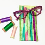 Candy Stripe Fabric Glasses/Sunnies Case