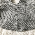 Grey and White Crochet Japanese Knot Bag - Wrist - Shopping - Market - Eco