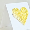 Gold Leaf Heart Square Gift Card | Valentine Wedding Mothers Day