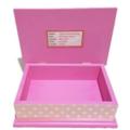 Pink & White Polka Dot Gold Glitter Unicorn, Keepsake, Trinket, Jewellery Box