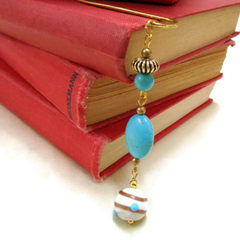 Turquoise Beaded Bookmark