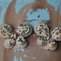 Floral Butterfly Hairclips ~ Butterfly Hairpins ~ Photo Props ~ Hair Accessories