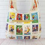 Crossbody Sling Bag, Latin American Loteria Bag, Hippie Hobo Bag