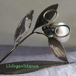 Discarded scrap metal art - spark plug bug 'Sensi'