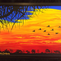 Original Painting 'Fly On By II'
