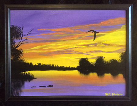Original Painting 'River Dusk'