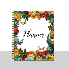 Planner Binder Journal Cover - Notebook Binder Cover - Notebook Floral and Fauna