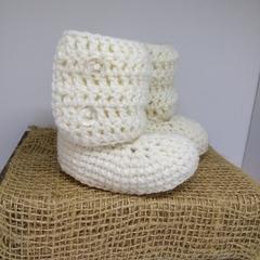 Cream Little Boots